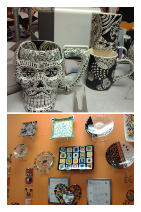 These were some of the finished things at Spirit of Clay that I thought were impressive.