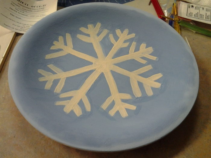 The plate I painted for my grandmother.