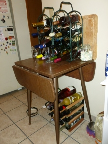 As I was cleaning up, I managed to arrange my wine. No, I don't have enough. Need more. :D