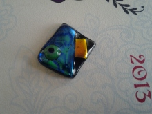 My very first home made glass pendant!