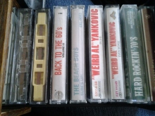 Ok, not so vintage, but they are getting close to it. Kids, these are called cassette tapes and they were used before CD's. :p