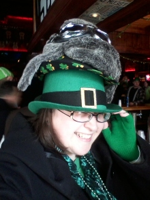 This is me. All the hats on my head and goggles to boot!