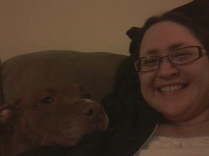 I made a friend. She looooves kisses!