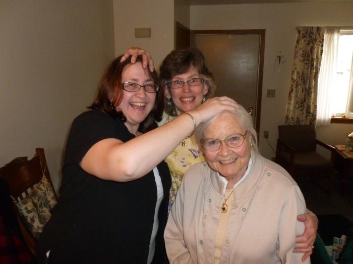 Mom, me, and Grandma