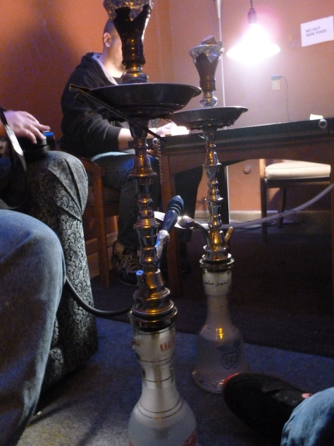 One night... at the hookah bar....