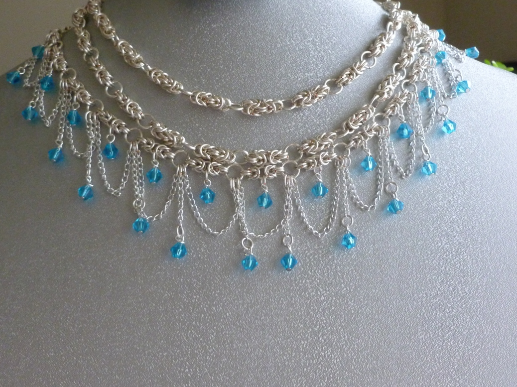 My most elaborate necklace to day, now up for sale in my shop!