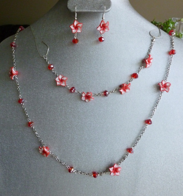 Red Flower Chain Set!