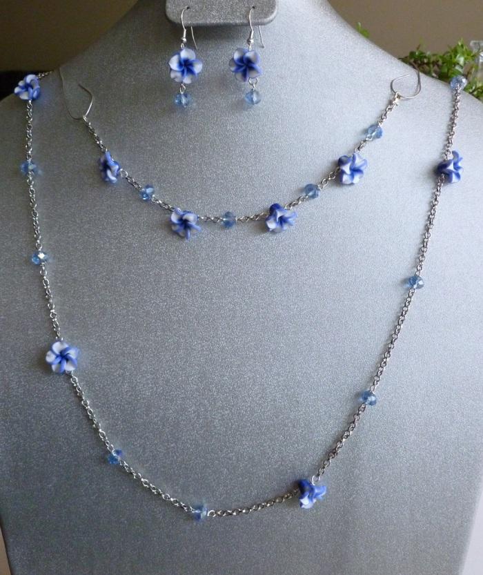 Blue Flower Chain Set!