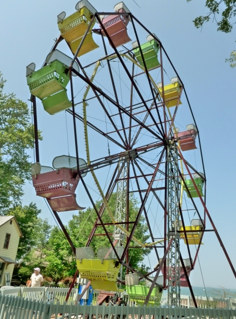 This ferris wheel was built in the 50's and still runs.  It really books!