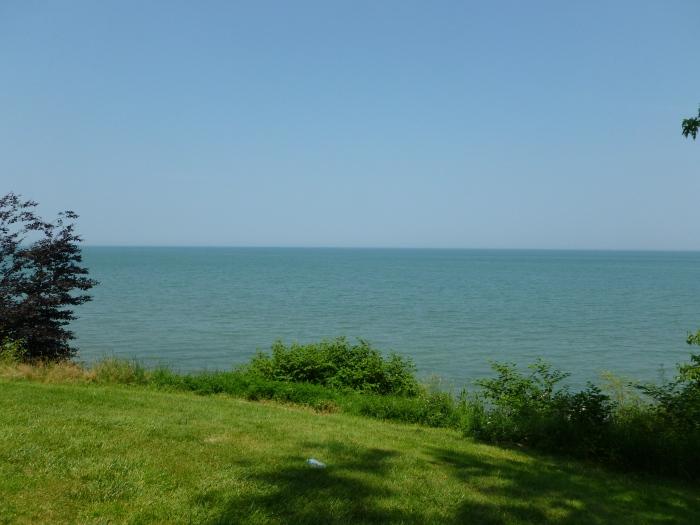 Serene lake view.