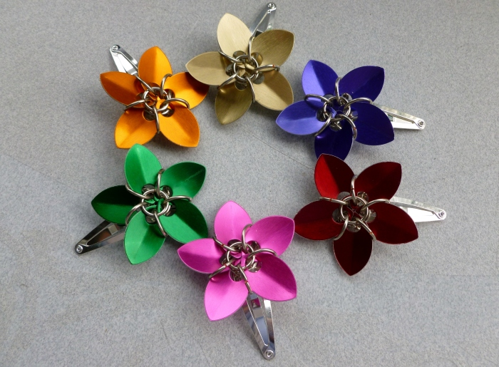 Plus I have flower barrettes back in stock and ready to go for The Flea!
