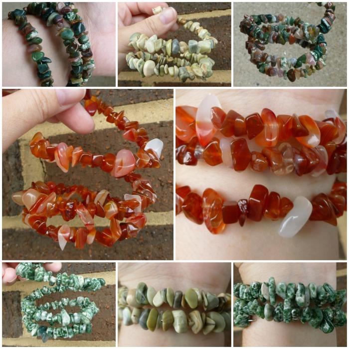 Jem Stone Memory Wire Bracelets