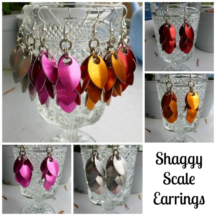 Shaggy Scale Earrings!!
