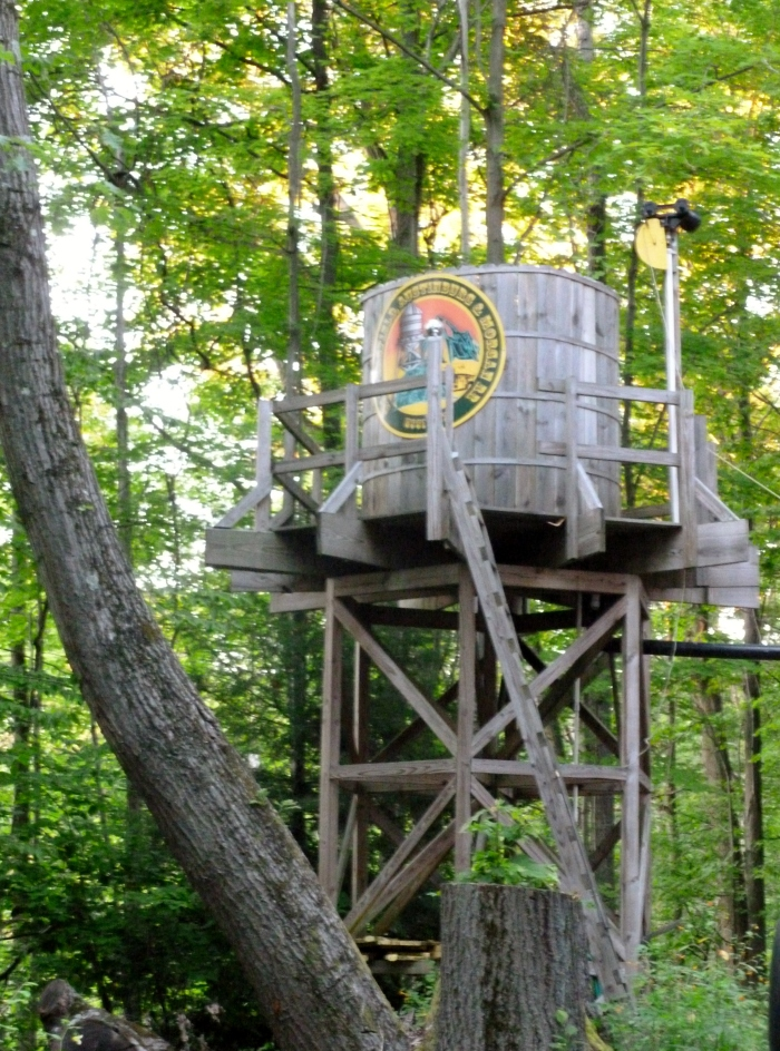 A home built water tower.