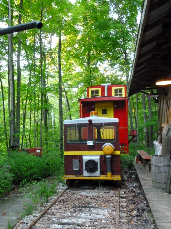I love the caboose, but I want to ride the rail car!