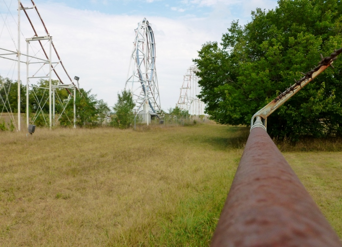 An old roller coaster.