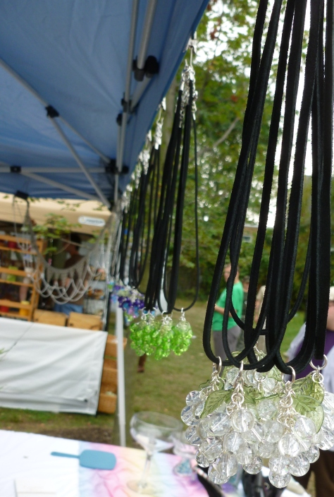 My grape jewelry was a hit!  I even sold a photograph at the art show!