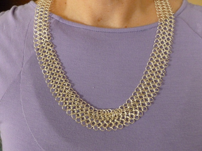 A nice, smooth, chainmaille 4-1 necklace.