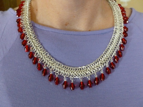 Fringed in Red necklace.  It's a 6-1 weave that flows well with you.