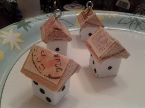 Little dice houses!  Great for little ornaments or even pendents!