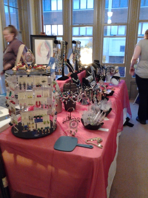 My table at the Painesville show.