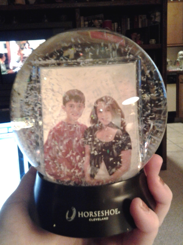 The snow globe.