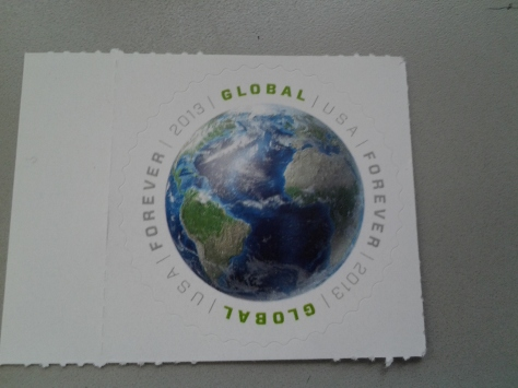 This is the stamp they gave me to mail something to Germany.