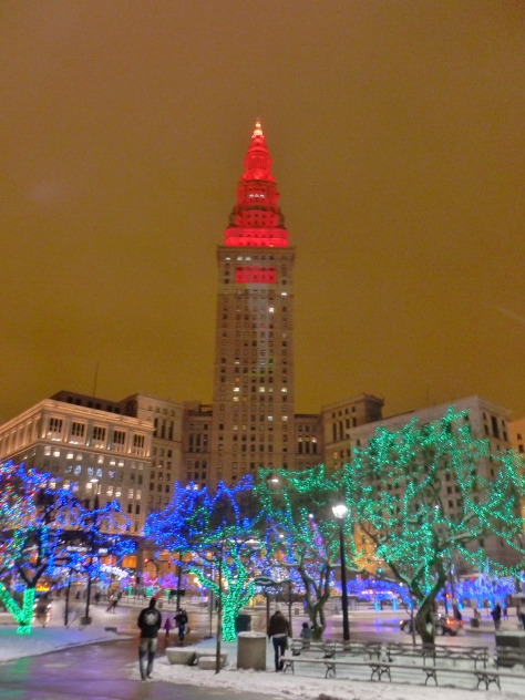 Terminal Tower and part of public square.
