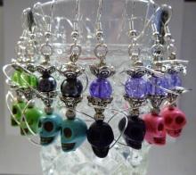 Skull hookah earrings add a unique twist on my hookah jewelry.  A rainbow of colors to choose from!