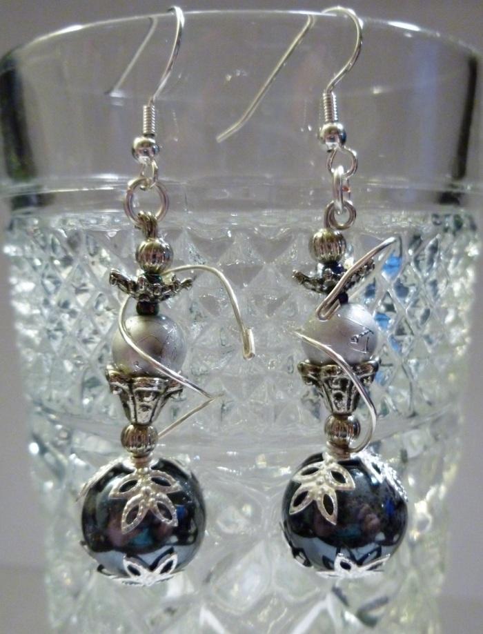 Delicately Intricate Hookah Earrings.
