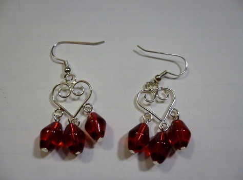 This is one of two different pairs of heart earrings.  I only have the two pairs available!
