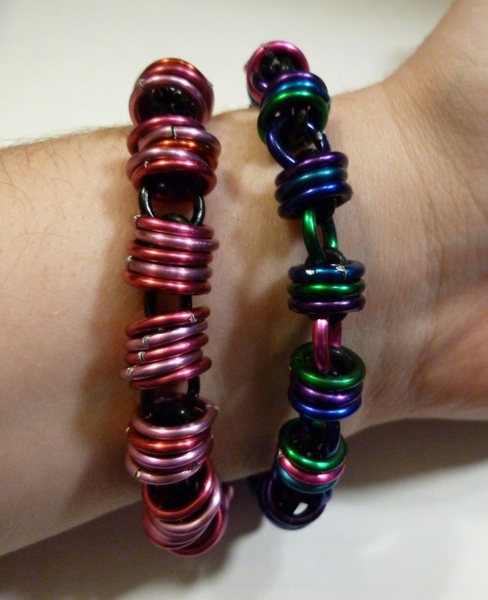 I've been wanting to do this for a while.  I now offer these fun stretch bracelets!  I will gladly do custom colors. :)