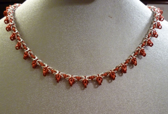And my latest twist on byzantine: Fiery Flare.