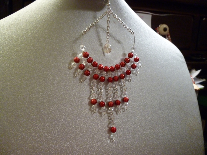 This is one of my latest earrings.  It's large, but it has a delicate look that still makes a statement.