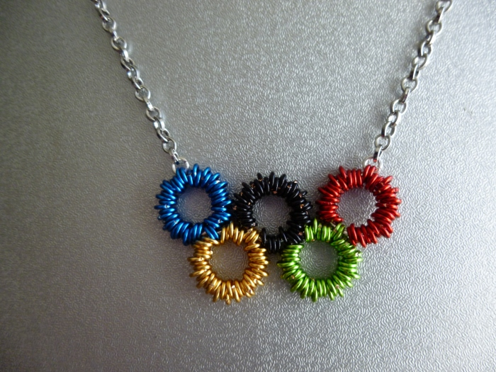 Chainmaille Olympic Rings