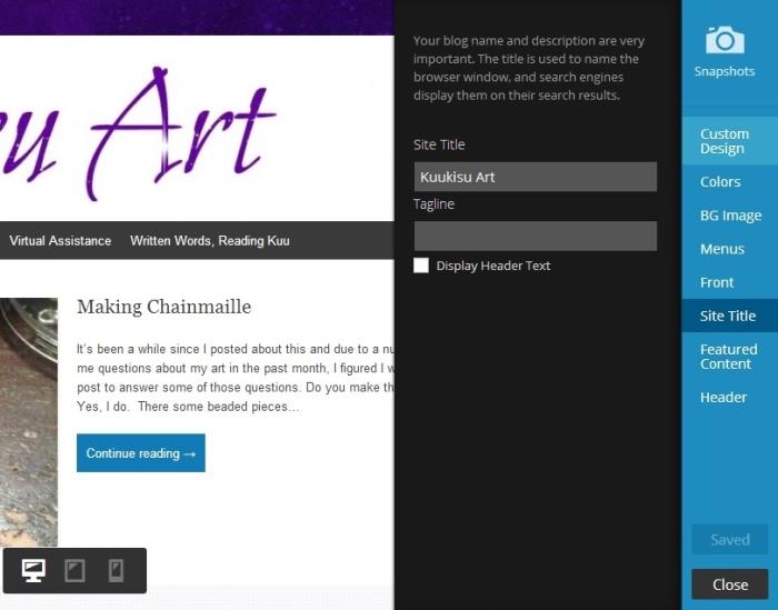 customize site title