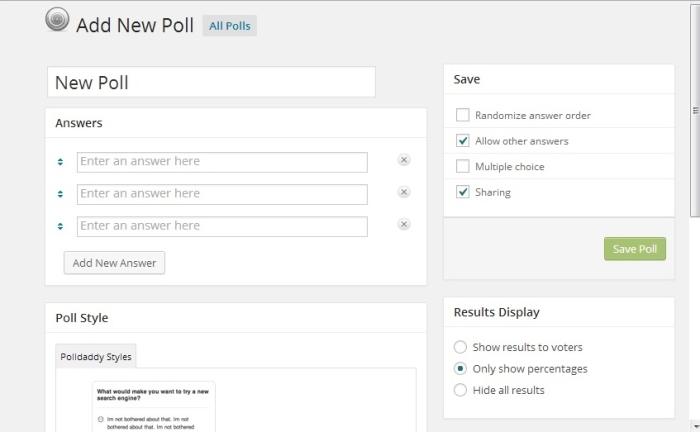 create a poll