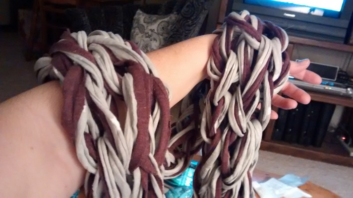 Here is a scarf I made.  This came out really well.