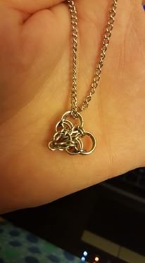 My chainmaille heart on a chain. :)
